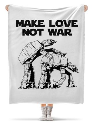 """Плед флисовый 130х170 см """"Make Love Not War. Звёздные войны"""" - at-at"""