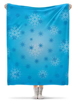 """Плед флисовый 130х170 см """"Снежинка"""" - праздник, новый год, зима, снег, снежинка"""