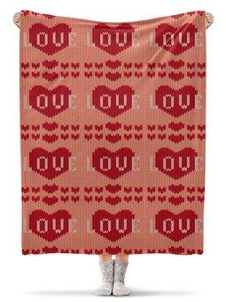 """Плед флисовый 130х170 см """"Любовь"""" - любовь, сердца, 8 марта, подарок, день св валентина"""