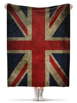 "Плед флисовый 130х170 см ""Британский флаг"" - флаг, британия, британский флаг"