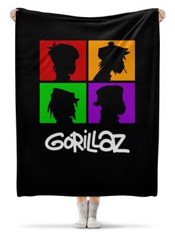"""Плед флисовый 130х170 см """"Gorillaz"""" - музыка, группы, gorillaz, гориллаз"""