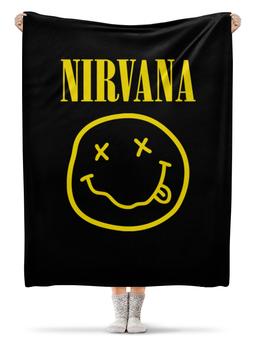 "Плед флисовый 130х170 см ""Nirvana"" - nirvana, рок, группы, курт кобейн, нирвана"