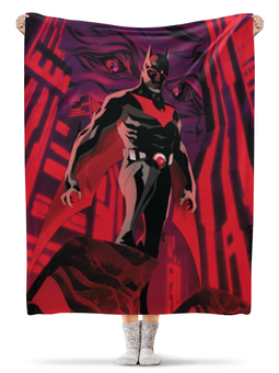 """Плед флисовый 130х170 см """"Batman Beyond / Бэтмен Будущего"""" - batman, бэтмен, dc comic, batman beyond, бэтмен будущего"""