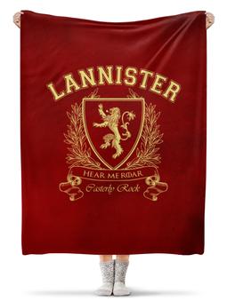 """Плед флисовый 130х170 см """"Игра Престолов. Дом Ланнистеров"""" - игра престолов, game of thrones, ланнистеры, house lannister, дом ланнистеров"""