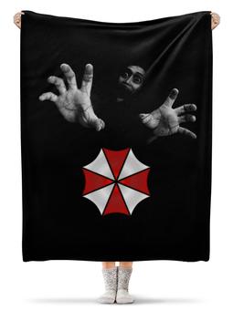 """Плед флисовый 130х170 см """"Umbrella"""" - resident evil, umbrella"""