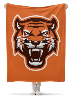 """Плед флисовый 130х170 см """"Тайгер"""" - кот, животные, природа, тигр"""