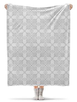 """Плед флисовый 130х170 см """"Свадебный"""" - узор, свадьба, орнамент, кружево, этнический"""