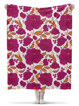 """Плед флисовый 130х170 см """"Цветы"""" - цветы, ярко, природа, красивые цветы"""