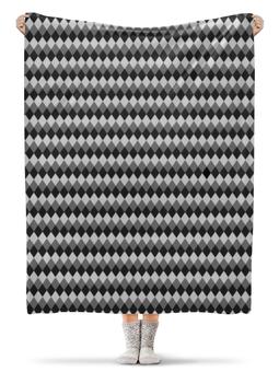"""Плед флисовый 130х170 см """"Три оттенка серого"""" - фигура"""