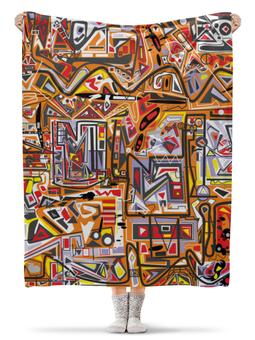"""Плед флисовый 130х170 см """"zzzeert"""" - арт, узор, абстракция, фигуры, текстура"""