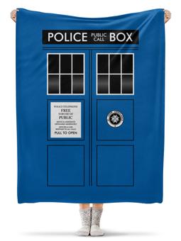 "Плед флисовый 130х170 см ""ТАРДИС"" - doctor who, tardis, доктор кто, тардис"