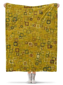 """Плед флисовый 130х170 см """"Квадраты"""" - квадрат, яркий"""