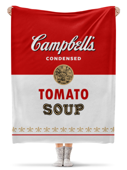"Плед флисовый 130х170 см ""Суп Кэмпбелл"" - campbells soup can"