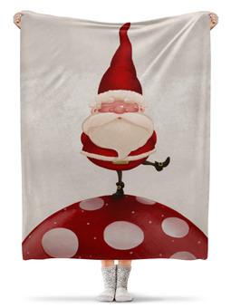"""Плед флисовый 130х170 см """"Новый год"""" - новый год, зима, дед мороз"""