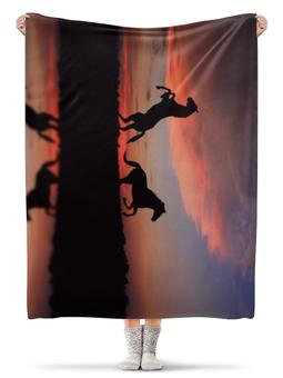 """Плед флисовый 130х170 см """"Лошади"""" - лошадь, фото"""