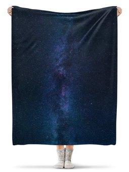 """Плед флисовый 130х170 см """"Космос"""" - космос, звезды, небо"""