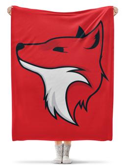 """Плед флисовый 130х170 см """"Red Fox / Красная Лиса"""" - лиса, животные, арт, fox, red fox"""