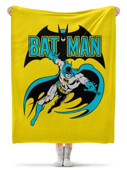 """Плед флисовый 130х170 см """"Бэтмен"""" - комиксы, batman, супергерои, бэтмен"""