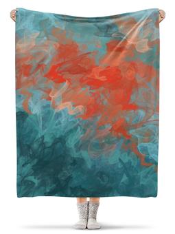 """Плед флисовый 130х170 см """"Абстрактный градиентный дизайн. Дигитал акварель"""" - стильный, модный, абстракт, градиент, омбре"""