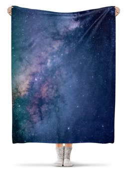 """Плед флисовый 130х170 см """"Космос"""" - звезды, космос, небо"""