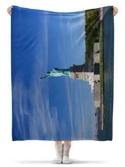 """Плед флисовый 130х170 см """"Статуя Свободы"""" - статуя свободы, нью-йорк, америка, фотография"""