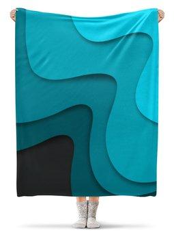 """Плед флисовый 130х170 см """"Волнистый"""" - орнамент, стиль, узор, абстрактный, абстракция"""