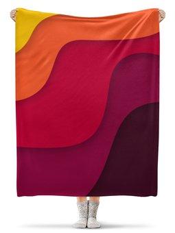 """Плед флисовый 130х170 см """"Волнистый"""" - рисунок, стиль, узор, абстрактный, волнистый"""