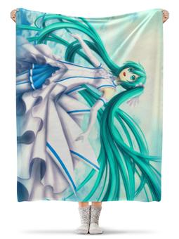 """Плед флисовый 130х170 см """"Мику Хацунэ"""" - мику хацунэ, аниме"""