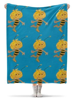 "Плед флисовый 130х170 см ""Пчелка"" - лето, пчелка, нектар"