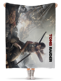 "Плед флисовый 130х170 см ""Tomb Raider"" - tomb raider, том райдер"