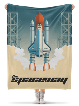 "Плед флисовый 130х170 см ""The Spaceway"" - космос, астрономия, the spaceway, наук"