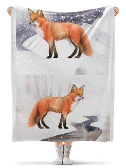 """Плед флисовый 130х170 см """"Лиса ( Fox)"""" - fox, лиса, животное, лисичка"""