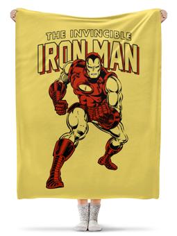 "Плед флисовый 130х170 см ""Железный человек"" - комиксы, супергерои, железный человек, iron man"