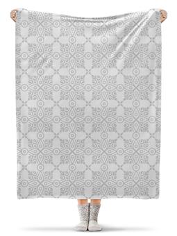 """Плед флисовый 130х170 см """"Свадебный"""" - орнамент, кружево, узор, свадьба, этнический"""