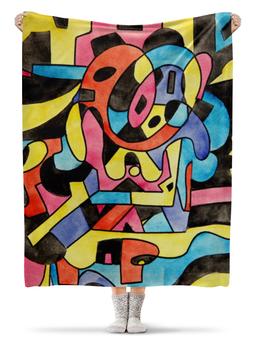 """Плед флисовый 130х170 см """"ttt`12ll"""" - арт, узор, абстракция, фигуры, текстура"""