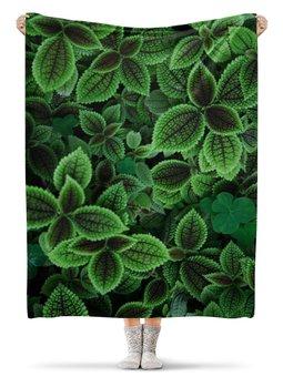 """Плед флисовый 130х170 см """"Цветы"""" - цветы, фото"""