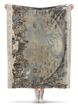 "Плед флисовый 130х170 см ""Le Tour du Monde en un Clin d'Oeil 1876"" - асгард"