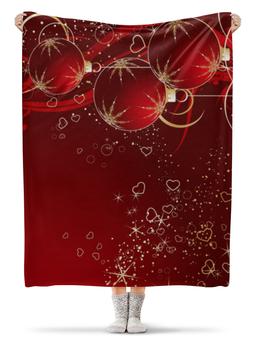 "Плед флисовый 130х170 см ""Merry Christmas"" - happy new year, новый год, рождество, праздники, merry christmas"