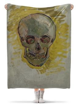 "Плед флисовый 130х170 см ""Череп II (Винсент ван Гог)"" - живопись"
