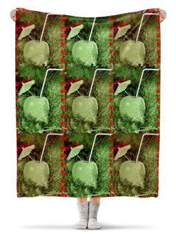 """Плед флисовый 130х170 см """"Яблочный микс"""" - напиток, абстракция, яблоко, фрукт, натюрморт"""