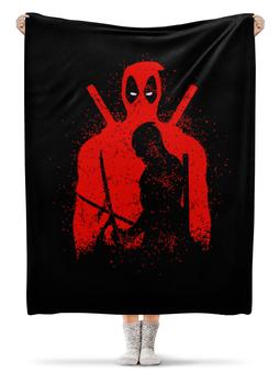 "Плед флисовый 130х170 см ""Deadpool"" - комиксы, marvel, deadpool, марвел, дэдпул"