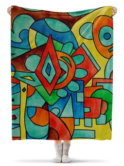 "Плед флисовый 130х170 см ""z//;vcw`0m0"" - арт, узор, абстракция, фигуры, текстура"