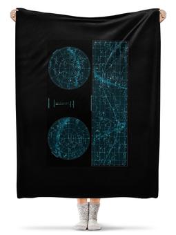 """Плед флисовый 130х170 см """"Карта звёздного неба"""" - карта, дизайн, звёзды"""