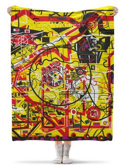 """Плед флисовый 130х170 см """"Паутинка"""" - арт, узор, абстракция, фигуры, текстура"""