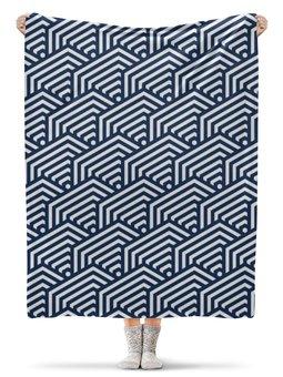 """Плед флисовый 130х170 см """"Геометрическая"""" - рисунок, стиль, узор, геометрический, абстрактный"""