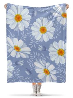 "Плед флисовый 130х170 см ""Ромашки"" - красиво, цветы, природа, ромашки"
