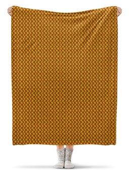 """Плед флисовый 130х170 см """"Теплый орнамент пейсли"""" - узор, орнамент, индийский, пейсли"""