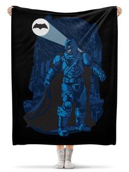 """Плед флисовый 130х170 см """"Бэтмен (Batman)"""" - batman, бэтмен"""
