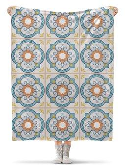 """Плед флисовый 130х170 см """"Узорная"""" - стиль, орнамент, узор, абстрактный, кафельная плитка"""