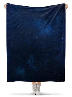 """Плед флисовый 130х170 см """"Звездное небо"""" - звезды, небо"""